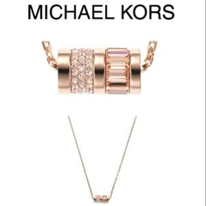 Michael Kors Rose Gold Pendant Necklace NWOT